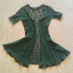 Betsey Johnson Green Lace Dress